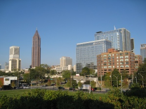 Some of Atlanta's skyline.