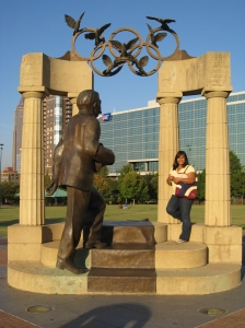 Olympic Centennial Park Statue.